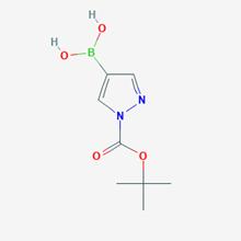 Picture of (1-(tert-Butoxycarbonyl)-1H-pyrazol-4-yl)boronic acid