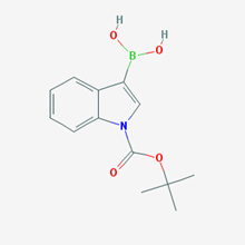 Picture of (1-(tert-Butoxycarbonyl)-1H-indol-3-yl)boronic acid